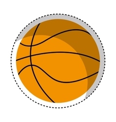 Basketball sport isolated icon vector