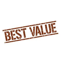 Best value stamp vector