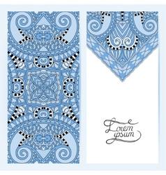 Blue colour decorative label card for vintage vector