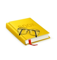 Book and glasses vector image vector image