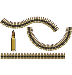 Bullet Belt vector image vector image