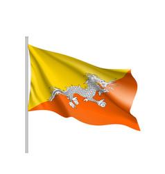 Butane flag flat style vector