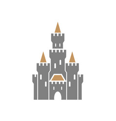 castle symbol icon on white background vector image