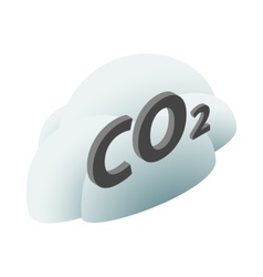 CO2 sign in a cloud icon isometric 3d style vector image