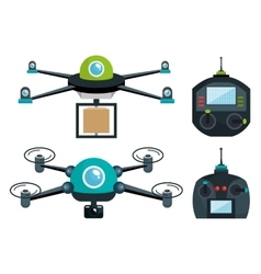 drone technology modern icon vector image vector image