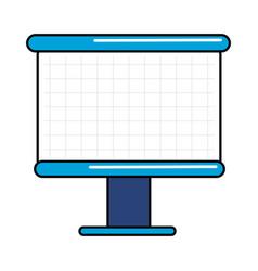Empty white marker board vector