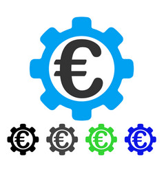 Euro options flat icon vector