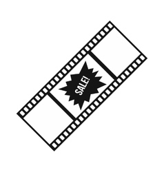 Film strip with Sale text icon simple style vector image vector image