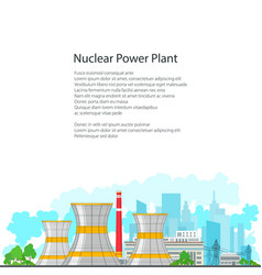 flyer nuclear power plant on white background vector image