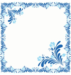 Frame With Abstract Flowers vector image vector image