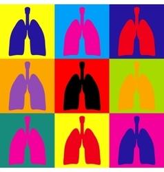 Human organs pop-art style icons set vector