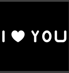 i love you the white color icon vector image vector image