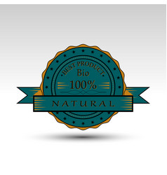 isolated badge vector image vector image