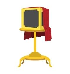 Magic box cartoon icon vector