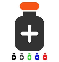 Medication vial flat icon vector