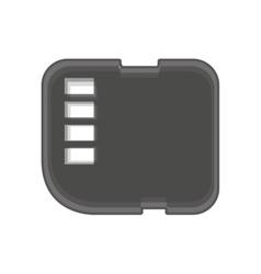 Micro sd card isolated icon vector