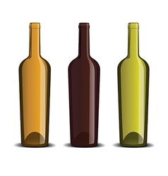 Mock up of the wine bottle vector image
