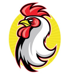 Rooster head mascot vector
