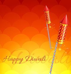 Stylish background of diwali vector