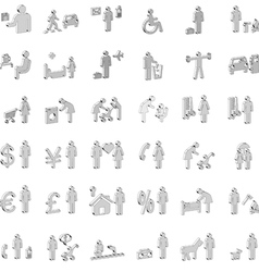 website and internet 3d icons - people vector image