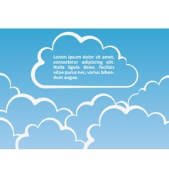 White clouds background vector