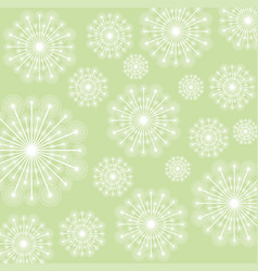 White dandelion plant design vector