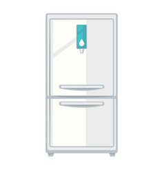 White modern fridge vector
