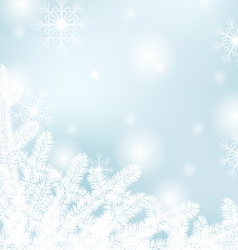 Winter text frame vector image