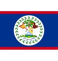 Flag of belize in correct size and colors vector