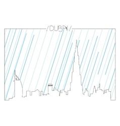 Isolated skyline of dubai vector