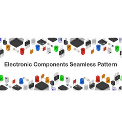 Isometric electronic components pattern vector