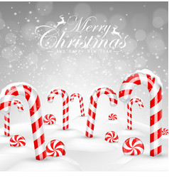 Christmas background with decorative baubles vector