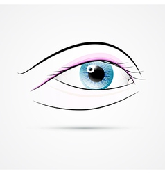 Human eye isolated on grey background vector