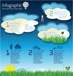 Modern ecology blue infographic design vector image
