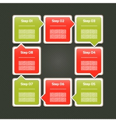 Cycle diagram with eight steps vector