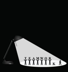 lamp teamwork vector image
