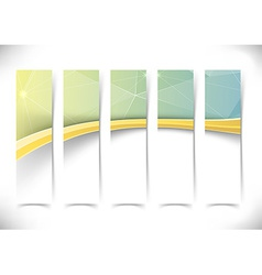 Gold border wave crystal flyers set collection vector