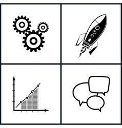 Set of business icons teamwork vector