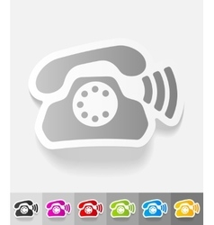 Realistic design element phone vector