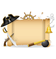 pirate concept icons 02 vector image