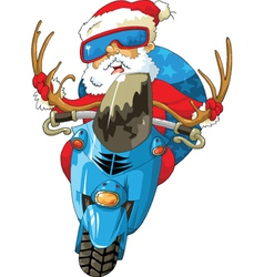 Santa scooter vector