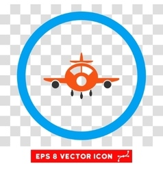Aircraft Eps Rounded Icon vector image