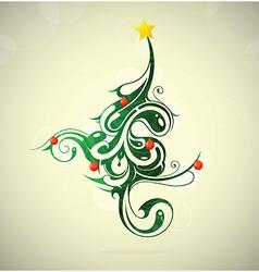 Artistic Christmas tree vector image vector image