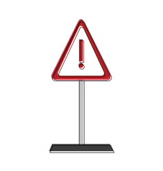 Attention sign symbol vector