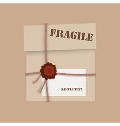 Box cardboard vector image vector image