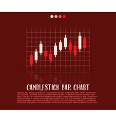 Candlestick bars vector
