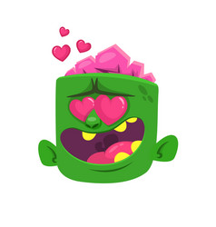 cartoon zombie in love vector image vector image