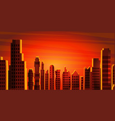 City landscape skyscrapers view vector