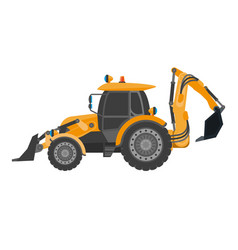 Crawler continuous tracked tractor equipped with vector
