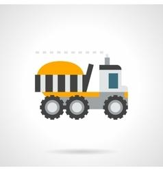 Farming lorry flat color icon vector